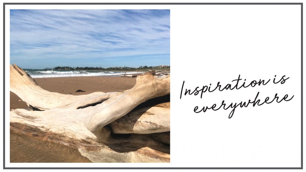 Inspiration is everywhere - even in driftwood