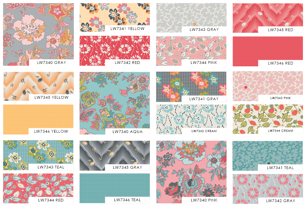 Floral Hues Swatches