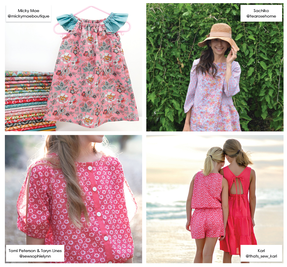 Clothing Designs in Floral Hues